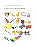 Elementary Music Instrument Family Percussion Test
