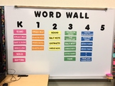 Elementary Music K-5 Word Wall Cards