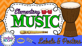 Elementary Music Labels & Posters for the Classroom