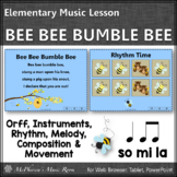 Elementary Music Lesson ~ Bee Bee Bumble Bee: Orff, Rhythm