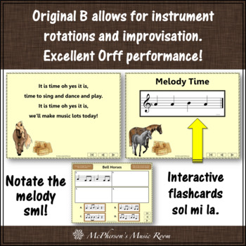 Elementary Music Lesson ~ Bell Horses: Orff, Rhythm, Composition & Melody