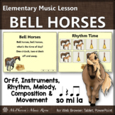 Elementary Music Lesson ~ Bell Horses: Orff, Rhythm, Compo