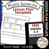 Elementary Music Lesson Plan Templates - FREE!!