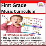 Ready-To-Go Music Lessons Bundled {1st Grade January-May}