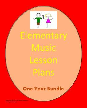 Elementary Music Lesson Plans {Bundled-Full School Year}