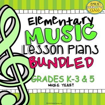 Elementary Music Lesson Plans (Bundled) Set #1