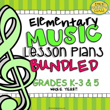 Elementary Music Lesson Plans (Bundled) Set #1