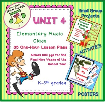 Elementary Music Lesson Plans for a Year Bundle, K-4(5)