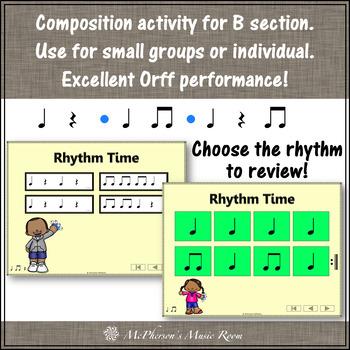 Elementary Music Lesson ~ Wrist Bells: Orff, Rhythm, Instruments & Composition