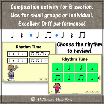 Elementary Music Lesson ~ Wrist Bells: Orff, Rhythm, Instruments & Composition