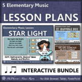 Elementary Music Lessons & Orff Arrangements for Eighth & Quarter Notes {Bundle}