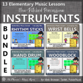 Elementary Music Lessons & Orff Arrangements for Non-Pitched Percussion
