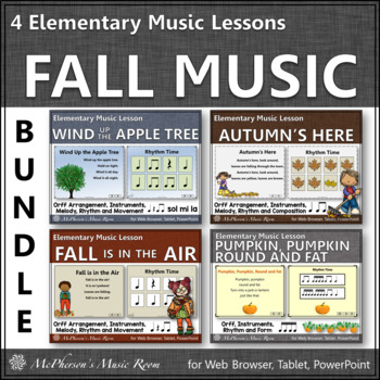 Elementary Music Lessons for Fall {Bundle of Orff Arrangements}