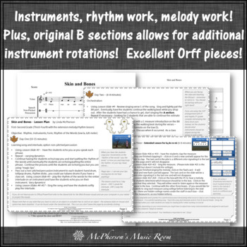 Elementary Music Lessons for October {Bundle of Orff Arrangements}