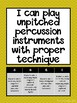 Elementary Music Marzano Scales and I can Statements *COLOR*