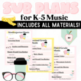 Elementary Music No Prep Sub Plans: Distance Learning Game Google Slides