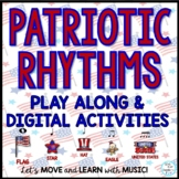 Elementary Music Patriotic Rhythm Activities: Drag & Drop Google Slides Video