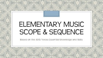 texas elementary music scope and sequence