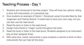 Elementary Music Storytelling Project