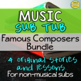 Emergency Music Sub Plans For Non Music Subs (Famous Composers Music Sub Tub)