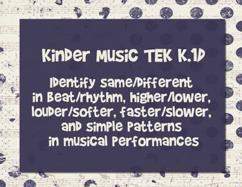 Elementary Music TEKS 2015 (Texas Essential Knowledge Skills)