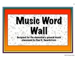 Elementary Music Word Wall