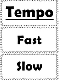 Elementary Music Word Wall-Black and White