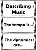 Elementary Music Word Wall-Describing Music
