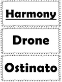 Elementary Music Word Wall-Harmony, Melody, and Form