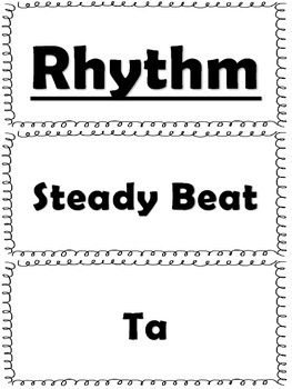 Elementary Music Word Wall-Rhythm and Music Reading