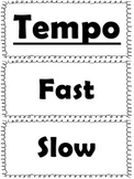 Elementary Music Word Wall-Tempo and Dynamics