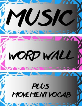 Elementary Music Word Wall Vocabulary