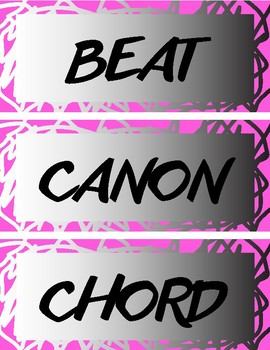 Elementary Music Word Wall Vocabulary