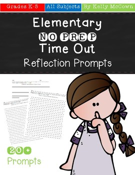Elementary NO PREP Time Out Reflection Prompts