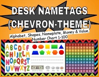 Elementary Desk Nametags (Chevron)