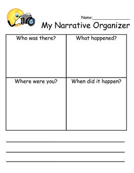 Elementary Narrative Organizer