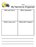 Elementary Narrative Organizer
