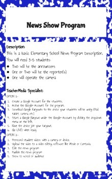 Elementary News Show Program - STEM