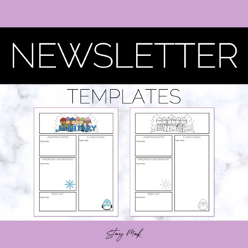 Elementary Newsletters - All 12 Months