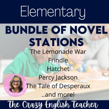 Elementary Novel Station Bundle: Lemonade War,Frindle,Hatchet,P.Jackson,Etc
