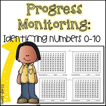 Number Identification Progress Monitoring Kit 0-10
