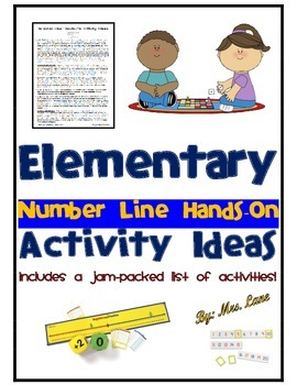 Elementary Number Line Hands-On Activity Ideas