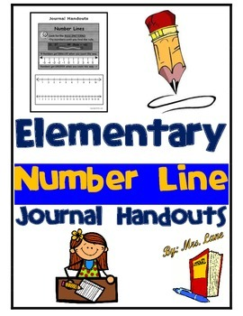 Elementary Number Line Journal Handouts