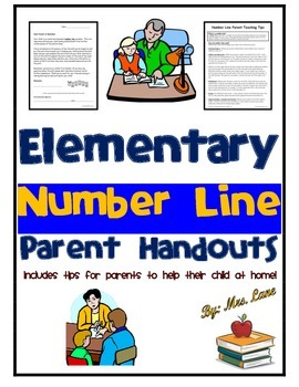 Elementary Number Line Parent Handouts (Help At Home)