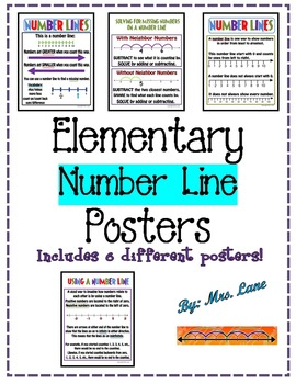 Elementary Number Line Posters (Includes 6 Different Posters!)