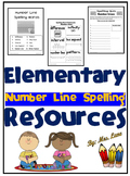 Elementary Number Line Spelling Resources