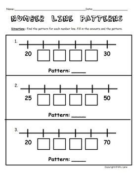 Elementary Number Line Worksheets
