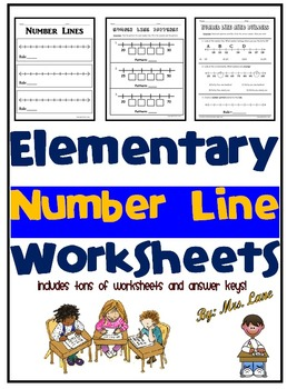 Elementary Number Line Worksheets