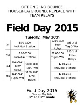 Elementary One Day Field Day Plans