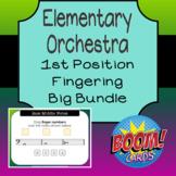 Elementary Orchestra - 1st Position Fingering Big Bundle
